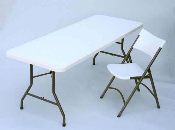 Plastic Folding Tables, Plastic Folding Chairs